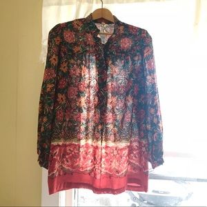 Vintage Indian Summer Tunic Blouse